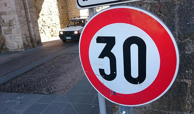 Via https://get.pxhere.com/photo/road-street-car-number-driving-sign-roadsign-red-symbol-street-sign-speed-signage-lane-caution-shape-slow-limit-traffic-sign-porta-di-sant-angelo-749598.jpg