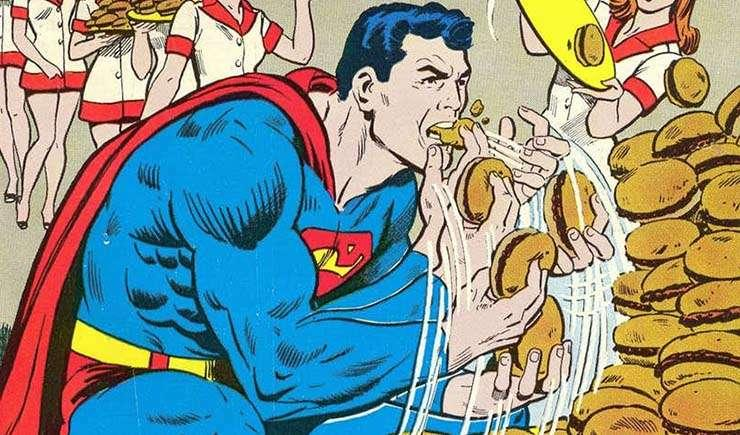 Via https://static0.cbrimages.comhttps://cdn.kincir.com/1/old/2018/01/Superman-stuffing-burgers-into-his-mouth.jpg?q=35&w=864&h=477&fit=crop