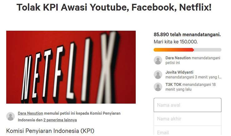Via https://www.change.org/p/komisi-penyiaran-indonesia-tolak-kpi-awasi-youtube-facebook-netflix?recruiter=876902284&recruited_by_id=632bcc40-5cb9-11e8-82f7-d31aff87291c&utm_source=share_petition&utm_medium=copylink&utm_campaign=petition_dashboard&utm_content=bandit-starter_cl_share_content_id-id%3Av5