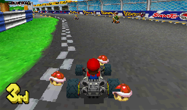 Via https://www.gametripper.co.ukhttps://cdn.kincir.com/1/old/2018/04/Mario-Kart-DS-Mario-in-race-three-red-shells-with-thanks-to-Moby-Games.png
