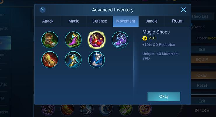 Item Brody Mobile Legends.