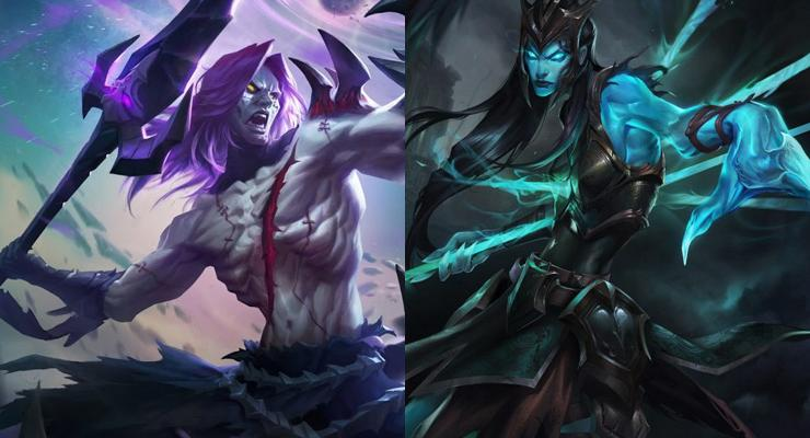 Moskov dari Mobile Legends (kiri) dan Kalista dari League of Legends (kanan).