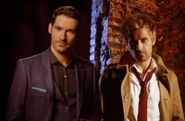 Lucifer Morningstar dan John Constantine.