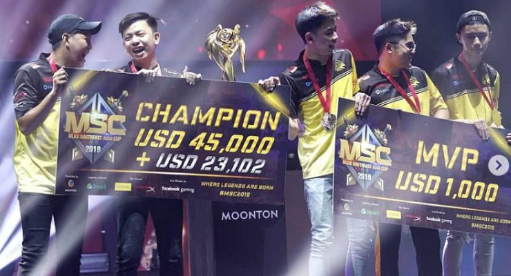 ONIC divisi Mobile Legends menangkan gelaran MSC 2019