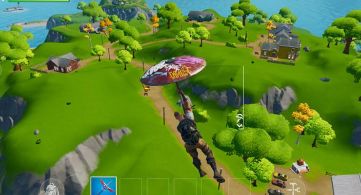 Tampilan Fortnite versi mobile.