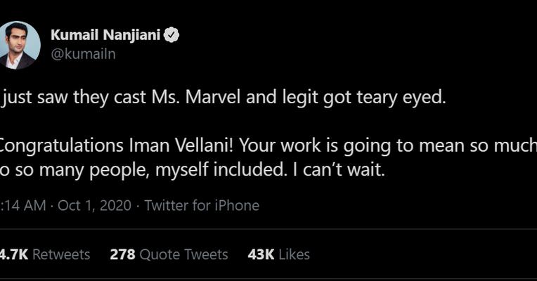 Pemeran Ms. Marvel Iman Vellani
