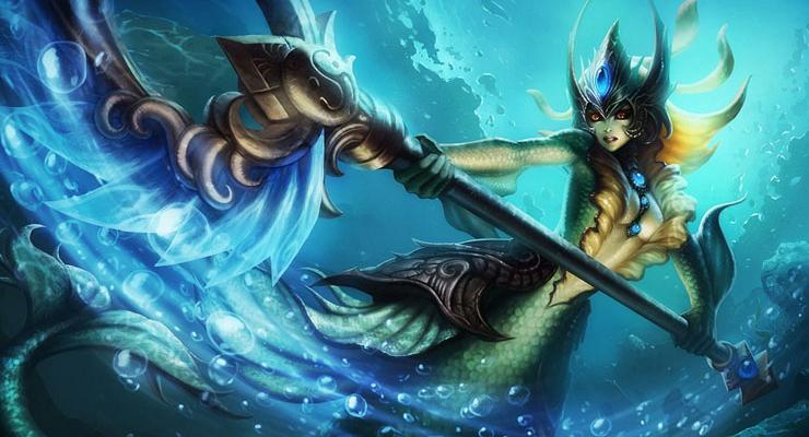 Sosok Champion Nami di League of Legends.