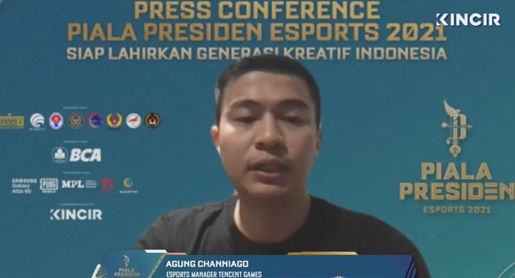 Agung Chaniago Esports Manager Tencent Games.