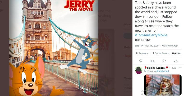 Inilah First Look Film Live Action Tom and Jerry